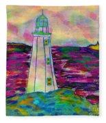 Lighthouse Digital Color Fleece Blanket