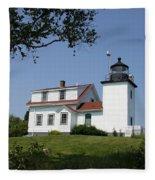 Lighthouse Fort Point Fleece Blanket