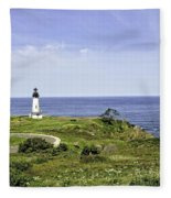 Lighthouse From Salal Hill Fleece Blanket