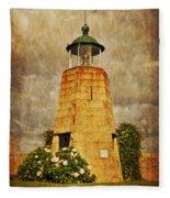 Lighthouse - La Coruna Fleece Blanket