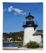 Lighthouse Mystic Seaport Fleece Blanket