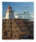 Lighthouse On A Channel By Cascumpec Bay On Prince Edward Island No. 094 Fleece Blanket