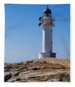 Lighthouse On Cap De Barbaria On Formentera Fleece Blanket