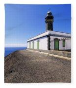 Lighthouse On Hierro Fleece Blanket