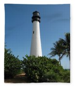 Lighthouse On Key Biscayne Fleece Blanket