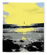 Lighthouse On The Horizon Fleece Blanket