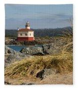 Lighthouse Over The Dunes Fleece Blanket