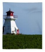Lighthouse Prince Edward Island Fleece Blanket