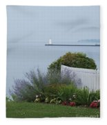 Lighthouse Sodus Bay New York Fleece Blanket