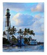 Lighthouse Sunrise Fleece Blanket