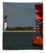 Lighthouse To Buoy Fleece Blanket