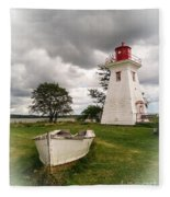 Lighthouse Victoria By The Sea Pei Fleece Blanket
