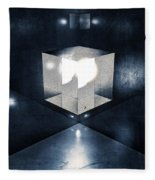 Lighting In Cube Fleece Blanket