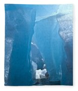 Lighting In Nigardsbreen Glacier Grotto 1 Fleece Blanket