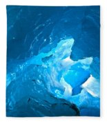 Lighting In Nigardsbreen Glacier Grotto 3 Fleece Blanket