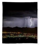 Lightning 1 Fleece Blanket