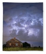 Lightning Thunderstorm Busting Out Fleece Blanket