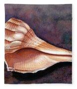 Lightning Whelk Fleece Blanket