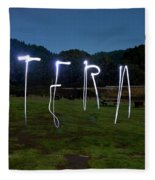 Lightpainting Image Spelling The Word Fleece Blanket