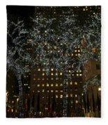 Lights In Rockefeller Center Fleece Blanket