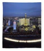 Lights Of Vegas Fleece Blanket