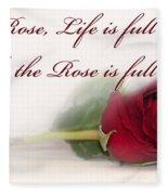 Like The Rose Fleece Blanket
