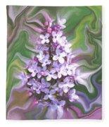 Lilac Abstract Fleece Blanket