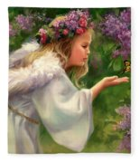 Lilac Angel Fleece Blanket
