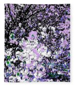 Lilac Crepe Myrtle Bloom  Fleece Blanket