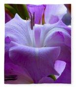 Lilac Flower Fleece Blanket