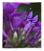 Lilac Petals And Purple Buds Fleece Blanket