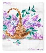 Lilac Vintage Impressionism Painting Fleece Blanket