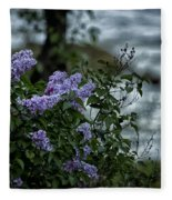 Lilacs By The River Fleece Blanket