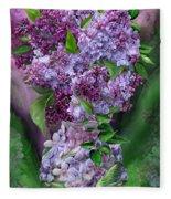 Lilacs In Lilac Vase Fleece Blanket