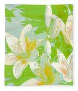 Lilies Greeting Card Fleece Blanket