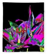 Lilies Pop Art Fleece Blanket
