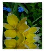 Lilium Of Gold Fleece Blanket