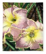 Lillies Clothed In Glory Fleece Blanket