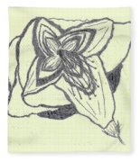 Lilly Artistic Doodling Drawing Fleece Blanket