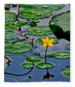 Lilly Pad Pond Fleece Blanket