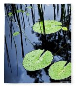 Lilly Pad Pond Fleece Blanket
