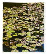Lilly Pads Fleece Blanket