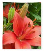 Lillys And Buds 1 Fleece Blanket