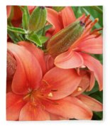 Lillys And Buds 3 Fleece Blanket