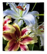 Lily Bouquet Fleece Blanket
