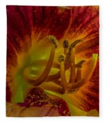 Lily Closeup Fleece Blanket