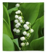 Lily-of-the-valley  Fleece Blanket