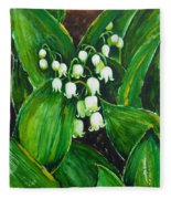 Lily Of The Valley Fleece Blanket