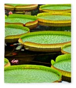 Lily Pad Pond Fleece Blanket