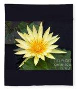 Lily Pad Yellow Fleece Blanket